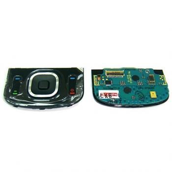 Клавиатурная плата Nokia 6260sl верхняя + внешняя клавиатура, черная (оригинал Китай)