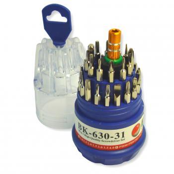Набор отверток BK-630-31 (наборная отвертка и 30 бит)