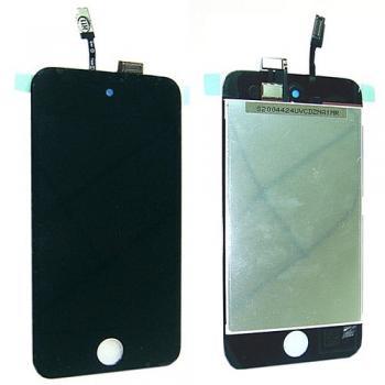 Дисплей iPod Touch 4-го поколения с сенсором, черный (оригинальная матрица)