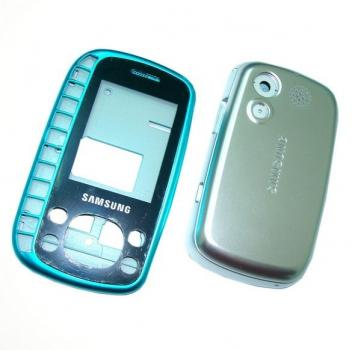 Корпус Samsung B3310 синий с серебристым