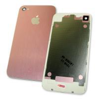 Задняя крышка корпуса iPhone 4 FL Design розовая (рамка белая)