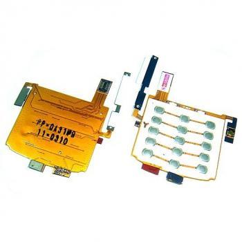 Клавиатурная плата LG KF600 нижняя, в комплекте микрофон