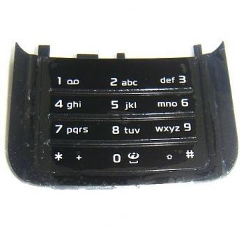 Клавиатура Nokia N85 черная, нижняя