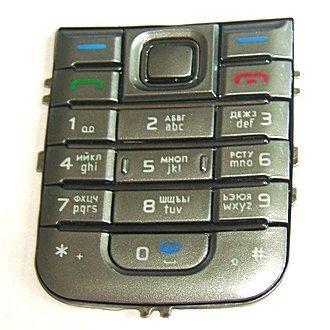 Клавиатура Nokia 6233 серая (рус/англ)