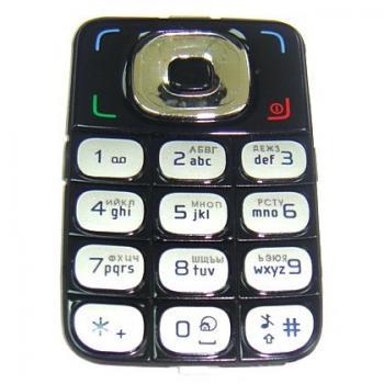 Клавиатура Nokia 6125 черная (рус/англ)