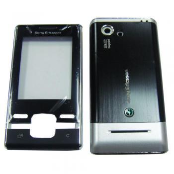 Корпус Sony Ericsson T715 черный с серебристым