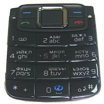 Клавиатура Nokia 3110cl черная (рус/англ)