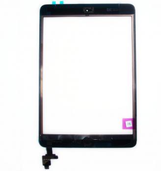 Сенсорный экран iPad Mini черный + шлейф с кнопкой HOME (оригинальные комплектующие)
