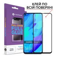 Защитное стекло MakeFuture для Huawei Nova 5T полноэкранное, черное