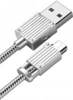 Lightning кабель зарядки и синхронизации XO NB33 Luggage Metal для iPhone iPad iPod серебристый (1000 мм)