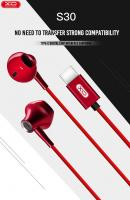 Наушники XO S30 Type-C In-Ear with buttons Remote control and Mic красные