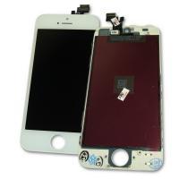 Дисплей iPhone 5 + рамка и сенсор белый (матрица и сенсор оригинал / стекло копия)