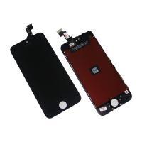 Дисплей iPhone 5C + рамка и сенсор черный (матрица и сенсор оригинал / стекло копия)