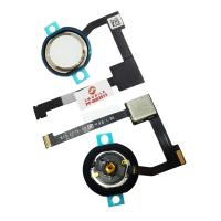 """Кнопка HOME внешняя для iPad Pro 12.9"""" 2015 / iPad Air 2 / iPad Mini 4 белого цвета, кольцо - золотистое + шлейф (оригинал)"""
