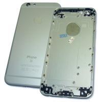Задняя крышка корпуса iPhone 6S серебристая + внешние кнопки и держатель SIM карты