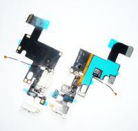Шлейф iPhone 6 + разъемы зарядки и под наушники белые (копия)