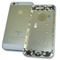 Задняя крышка корпуса iPhone SE серебристая