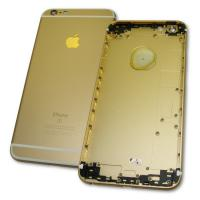 Задняя крышка корпуса iPhone 6S Plus золотистая + внешние кнопки и держатель SIM карты (копия AAA)