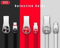 Lightning кабель зарядки и синхронизации XO NB45 CD Grain Zinc Alloy для iPhone iPad iPod черный (1000 мм)