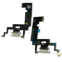 Шлейф iPhone XR + микрофоны и разъем зарядки белый (копия AA)