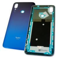 Задняя крышка корпуса Xiaomi Redmi 7 синяя, без стекла основной камеры (оригинал Китай)
