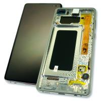 Дисплей Samsung G975 Galaxy S10 Plus + сенсор и рамка, белый (оригинал 100%)