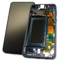 Дисплей Samsung G970 Galaxy S10e + сенсор и рамка, черный (оригинал 100%)