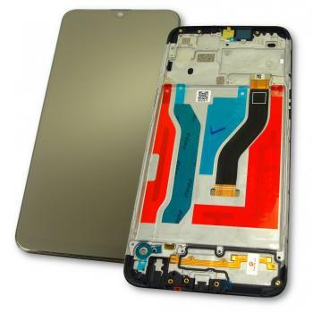 Дисплей Samsung A107F A107M Galaxy A10s 2019 + сенсор и рамка, черный (оригинал 100%)