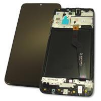 Дисплей Samsung A105F A105G Galaxy A10 2019 + сенсор и рамка, черный (оригинал 100%)