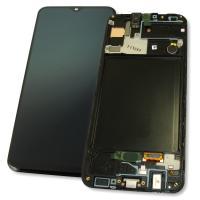 Дисплей Samsung A307F A307G Galaxy A30s 2019 + сенсор черный и рамка GH82-21190A (оригинал 100%)