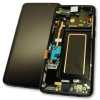 Дисплей Samsung G960F G960F/DS Galaxy S9 + сенсор и рамка, черный GH97-21696A (оригинал 100%)