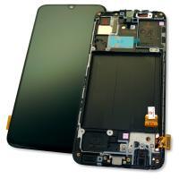 Дисплей Samsung A405F Galaxy A40 2019 + сенсор черный и рамка GH82-19672A (оригинал 100%)
