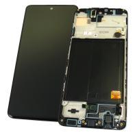 Дисплей Samsung A515F Galaxy A51 2019 + сенсор черный и рамка GH82-21669A (оригинал 100%)