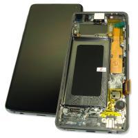 Дисплей Samsung G973F Galaxy S10 + сенсор и рамка, черный GH82-18850A (оригинал 100%)