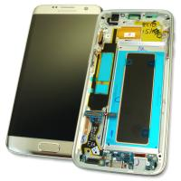 Дисплей Samsung G935F Galaxy S7 Edge + сенсор и рамка, серебристый GH97-18533B (оригинал 100%)